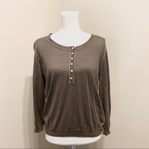 NWT Women's Faconnable Button Sweater Size Large